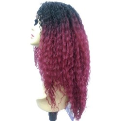 Custom Lace Wig Beach Curl T1BBG