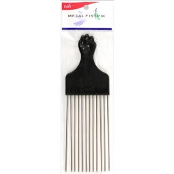 Long Metal Fist Afro Comb