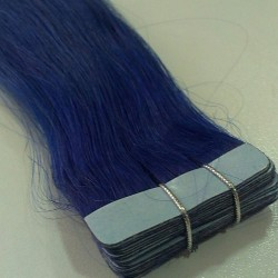 "Tape Hair 20"" Straight Color Blue"