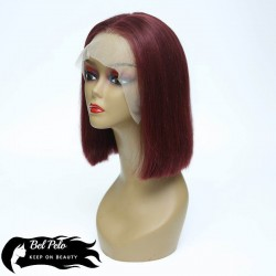 Bob Lace Wig Color Red Wine