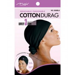 Lady Cotton Durag Black -...