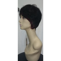 Audrey 1B/Rojo Sleek wig fashion