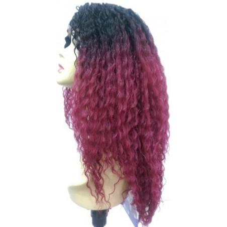 Custom Lace Wig Beach Curl T1BBG